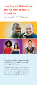 New Sexual Orientation and Gender Identity Questions: Information for Patients