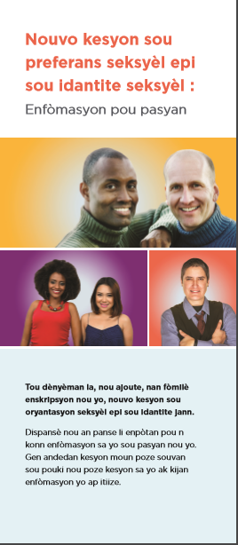 New Sexual Orientation and Gender Identity Questions: Information for Patients Translated into Haitian Creole