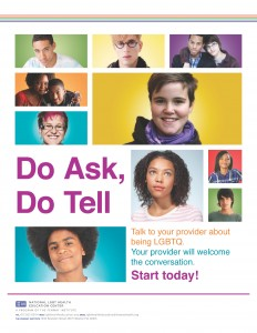 Do Ask, Do Tell Series: Youth Poster